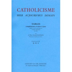 Catholicisme Tables, Fasc. 82 Q-R-S