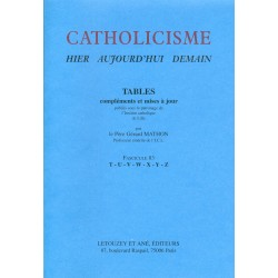 Catholicisme Tables, Fasc. 83 T-Z