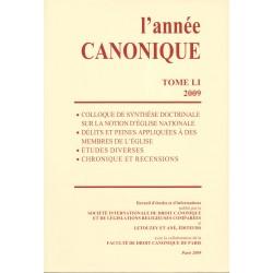 L'année canonique LI (2009)