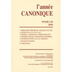 L'année canonique LII (2010)