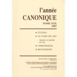 L'Année canonique XXX Le Code 1983