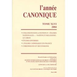 L'Année canonique XLVI (2004) Églises nationales : Nation et Rel