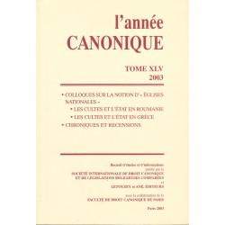 L'Année canonique XLV (2003) Églises nationales : Roumanie-Grèce