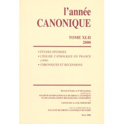 L'Année canonique XLII (2000) Études diverses