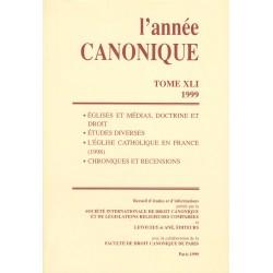 L'Année canonique XLI (1999) Églises et médias