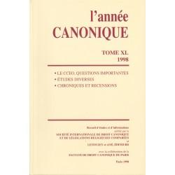 L'année canonique XL (1998) Le Code des canons des Églises orien