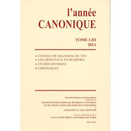 L'année canonique LIII (2011)