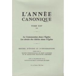 L'Année canonique XXV