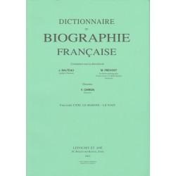 Dictionnaire de Biographie française, fasc. 121