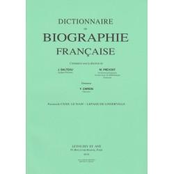 Dictionnaire de Biographie française, fasc. 122