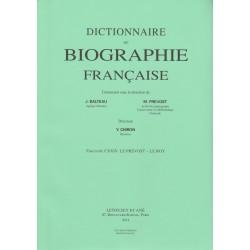 Dictionnaire de Biographie française, fasc. 124