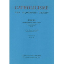 Catholicisme Tables Fasc. 79 I-J-K