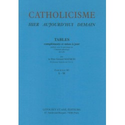 Catholicisme Tables Fasc. 80 L-M