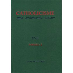 Catholicisme Tables vol. XVII L-Z relié