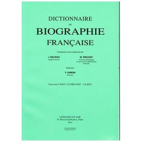 Dictionnaire de biographie française, fasc. 1-124