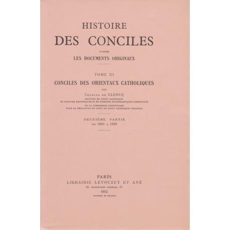 Histoire des conciles XI/2 1850-1949