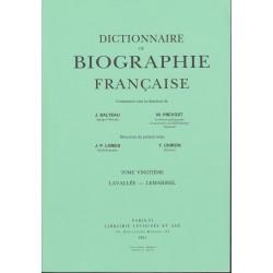 Dictionnaire de biographie française, T. I-XXI brochés