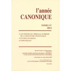 L'année canonique LV (2013)