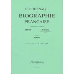 Dictionnaire de Biographie française, fasc. 125