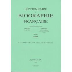 Dictionnaire de Biographie française, fasc. 126