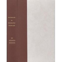 Dictionnaire de Biographie française cartonnage 1/2 toile