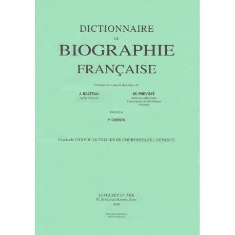 Dictionnaire de Biographie française, fasc. 128