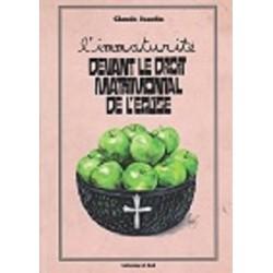 En souscription L'immaturité devant le droit matrimonial de l'Eglise