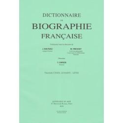 Dictionnaire de Biographie française, fasc. 129