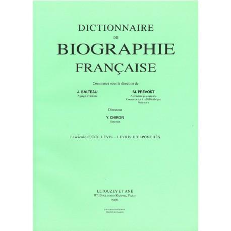 Dictionnaire de Biographie française, fasc. 130